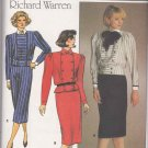 Butterick Sewing Pattern 3404 Misses Size 8-12 Richard Warren Two Piece Dress Top Straight Skirt