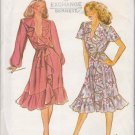Butterick Sewing Pattern 3511 Misses Size 8 Front Wrap Dress Ruffles Flounces Sleeve Options