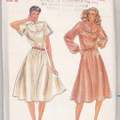 Butterick Sewing Pattern 3612 Misses Size 8 Pullover Flared Skirt Dress Round Yoke Sleeve Options