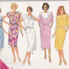 Butterick Sewing Pattern 3680 Misses Size 8-12 Easy Classic Straight Dresses Sleeve Collar Options