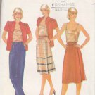 Butterick Sewing Pattern 3739 Misses Size 8 Wardrobe Camisole Front Wrap Skirt Jacket Pants