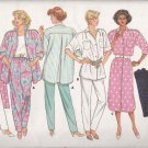 Butterick Sewing Pattern 3755 Misses Size 6-14 Easy Wardrobe Big Shirt Button Front Dress Pants