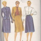 Butterick Sewing Pattern 4014 Misses Size 10 Evan-Picone Suit Lined Jacket Skirt Blouse