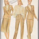 Butterick Sewing Pattern 4017 Misses Size 8 Ellen Tracy Suit Lined Jacket Skirt Blouse Pants