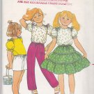 Butterick Sewing Pattern 4250 Girls Size 3 Summer Wardrobe Top Tiered Skirt Pants Shorts