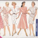 Butterick Sewing Pattern 6204 Misses Size 8-12 Easy Classic Two-Piece Dress Skirt Top Peplum