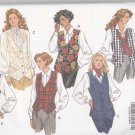 Butterick Sewing Pattern 6417 Misses Size 6-14 Easy Classic Lined Button Front Vests