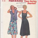 Butterick Sewing Pattern 6521 Misses Size 6-8 Easy Summer Sleeveless Dress Cap Sleeve Jacket
