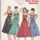 Butterick Sewing Pattern 6562 Misses Size 6-10 Sundress Summer Full Skirt Spaghetti Strap Dress