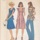 Retro Simplicity Sewing Pattern 7438 Misses Size 8-10 Sleeveless Dress Tunic Top Ruffles Tie Ends