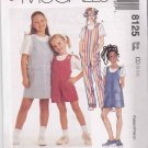 McCalls Sewing Pattern 8125 Girls Size 2-4 Easy Classic Jumper Romper Long Short Jumpsuit