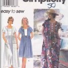 Simplicity Sewing Pattern 9598 Misses Size 6-16 Easy Pullover Raised Waist Loose Fitting Dress