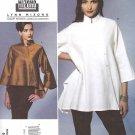 Vogue Sewing Pattern 1274 Misses Size 16-26 Easy Top  Asymmetrical Front Button Closing Lynn Mizono