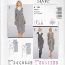 Burda Sewing Pattern 7320 Misses Size 12-24 Easy Maternity Raised Waist Empire Dress Sleeve Option