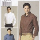 Vogue Sewing Pattern 8759 Mens Size 34-40 Easy Fitted Shirt Sleeve Pocket Collar Options