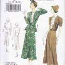 Vogue Sewing Pattern 8767 Misses Size 8-14 Vintage 1938 Design Dress Jacket Belt Sleeve Options