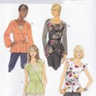 Butterick Sewing Pattern 5709 Misses Size 8-16 Easy Pullover Blouson Tops Belt Sleeve Options