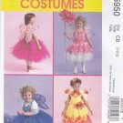 McCall's Sewing Pattern 5950 Girls Size 1-2-3 NO SEW Fairy Dance Costumes Top Wings Skirt Options