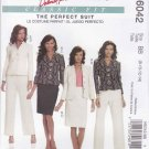 McCall's Sewing Pattern 6042 Misses Size 8-14 Classic Fit Suit Pantsuit Lined Jacket Skirt Pants