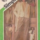 Simplicity Sewing Pattern 6525 Misses Size 14 Wardrobe Lined Jacket Pullover Blouse Skirt Pants