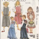 McCall's Sewing Pattern 4672 Girls Size 7-10 Jumpers Detachable Collars Appliques