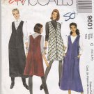 McCall's Sewing Pattern 9601 Misses Size 10-14 Easy Jumper Two Lengths Side Buttons Pockets