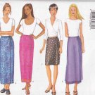 Butterick Sewing Pattern 6945 Misses Size 8-12 Easy Mock Wrap Straight Sarong Skirt Length Options