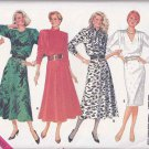 Butterick Sewing Pattern 4364 Misses Size 6-10 Easy Classic Straight Flared Skirt Long Sleeve Dress