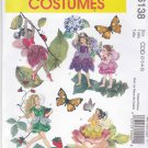 McCall's Sewing Pattern 6138 Girls Size 2-3-4-5 Fairy Flower Dance Costumes Dress Wings