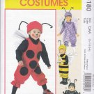 McCall's Sewing Pattern 6180 Girls Boys Size 1/2-4 Costumes LadyBug Bumble Bee Spider Butterfly