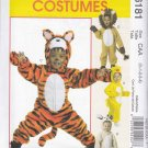 McCall's Sewing Pattern 6181 Girls Boys Size 1/2-4 Costumes Tiger Lion Lamb Chick