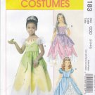 McCall's Sewing Pattern 6183 Girls Size 2-3-4-5 Costumes Princess Dress Overlay Short Puffy Sleeve