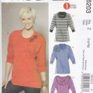 McCall's Sewing Pattern 6203 Misses Size 4-14 Quick Pullover Knit Tunics Tops Embellished