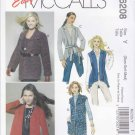 McCall's Sewing Pattern 6208 Misses Size 4-14 Easy Knit Cardigans Vest Jackets