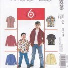 McCall's Sewing Pattern 6226 4164 Boys Size 10-14 Easy Button Front Long Short Sleeve Shirt