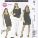 McCall's Sewing Pattern 6287 M6287 Misses Size 4-14 Easy Knit Pullover Top Tunic Dress