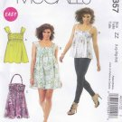 McCall's Sewing Pattern 6357 Misses Size 4-14 Easy Summer Sundress Top Tunic Dress