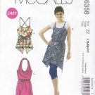 McCall's Sewing Pattern 6358 Misses Size 16-26 Easy Summer Apron Jumper Style Tops