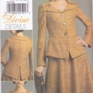 Vogue Sewing Pattern 8473 Misses Size 14-20 Easy Lined  Flared Skirt Sleeveless Dress Jacket