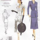 Vogue Sewing Pattern 1072 Misses Size 12-18 Vintage 1948 Style Button Front Blouse A-Line Skirt