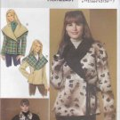 Butterick Sewing Pattern 5424 Misses Size 16-24 Easy Reversible Shawl Collar Fleece Jacket