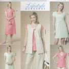 Butterick Sewing Pattern 5501 Misses Size 8-14 Easy Wardrobe Vest Top Dress Cropped Pants