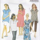 Butterick Sewing Pattern 5763 Misses Size 8-16 Easy Maternity Wardrobe Top Dress Pants