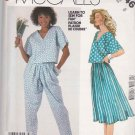 McCall&#39;s Sewing Pattern 2346 Misses Size 8 Easy Pullover Top Pants Gathered Skirt