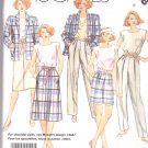 McCall's Sewing Pattern 2488 Misses Size 8 Easy Wardrobe Wrap Skirt Top Pants Jacket Shorts