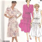 McCall's Sewing Pattern 2546 Misses Size 10 Pullover Button Front Bodice Dress Sleeve Options