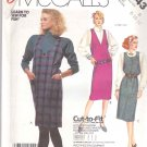 McCall's Sewing Pattern 2643 Misses Size 8-12 Easy Pullover Straight Jumper Neck Options