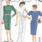 McCall's Sewing Pattern 2787 Misses Size 10 Easy Straight Formal Long Short Dress Sleeve Options