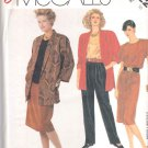 McCall's Sewing Pattern 2822 Misses Size 10 Easy Wardrobe Pants Skirt Jacket Top
