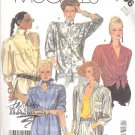 McCall's Sewing Pattern 2896 Misses Size 10-12 Easy Basic Button Front Long Sleeve Shirts